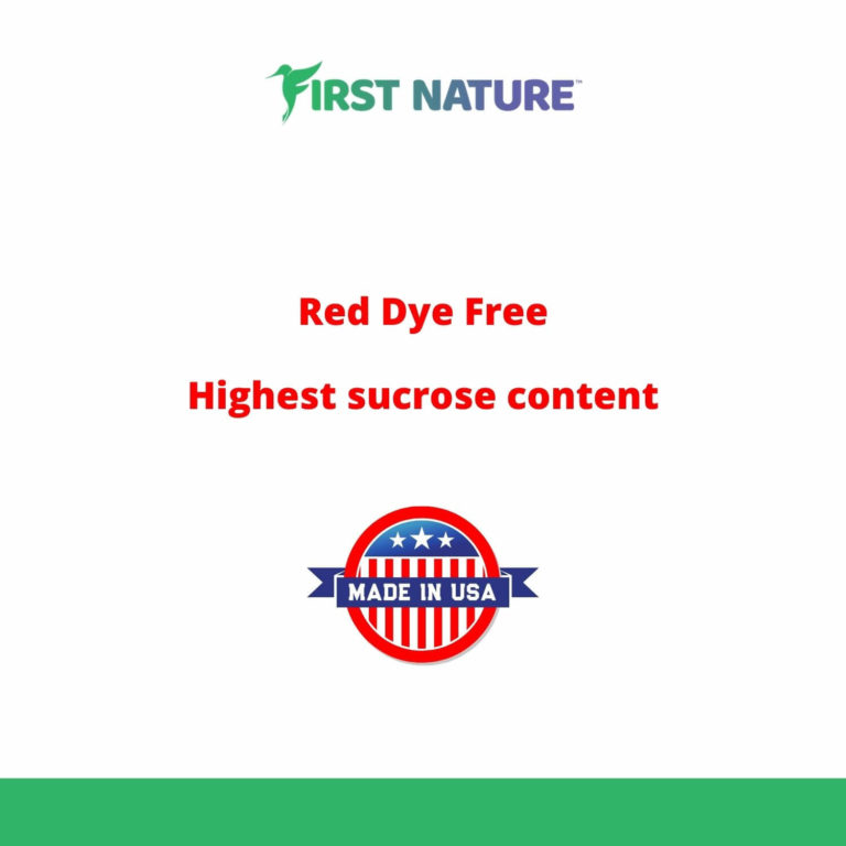 Red Dye Free - Highest Sucrose Content - Made in USA - Hummingbird Nectar